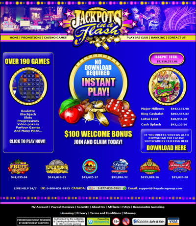 casino jackpots in a flash